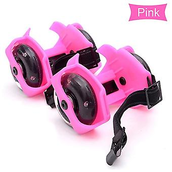 Colorful Flashing Roller Skating Shoes, Whirlwind Pulley Flash Wheel Heel