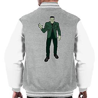 Frankenstein Monster Pose Illustration Men's Varsity Jacket