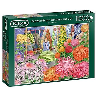 Falcon DeLuxe The Flower Show: Optimism And Joy Falcon De Luxe 1000 Pieces Jigsaw Puzzle Jigs