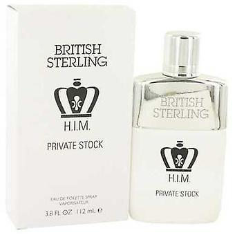 British Sterling HIM yksityinen varastossa Dana Eau de Toilette Spray 3,8 oz (miehet) V728-531041