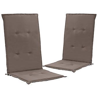 vidaXL krzesło ogrodowe wydanie 2 szt. Taupe 120 x 50 x 3 cm