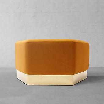 Lucci Xl Lux Pouffe Mustard