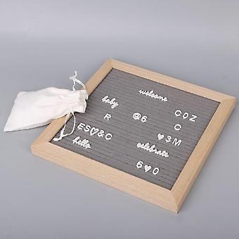 Tekens voor Vilt, gebruikt als fotoclips voor verwisselbaar briefbord