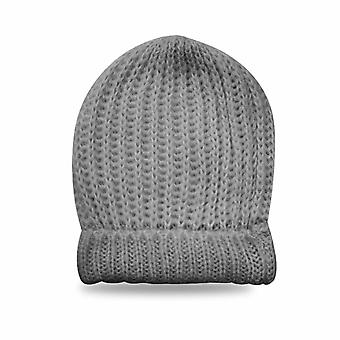 Ladies Knitted Hat, Grey