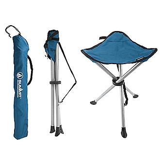 Summit Camping Fishing Folding Travel Tripod Stool Chair Seat Carry Bag - Blue