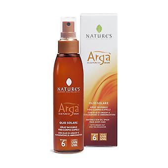 Argà Invisible spray sun oil SPF6 150 ml of oil