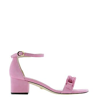 Stuart Weitzman Amelina50sefqli Women's Pink Suede Sandals