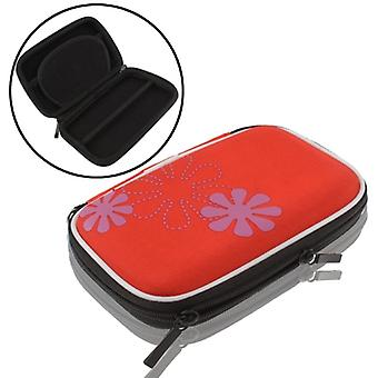 デジタルカメラ用ユニバーサルバッグ, GPS, NDS, NDSライト, サイズ: 135x80x25mm (赤)