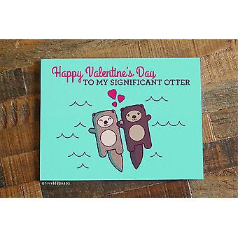 Cute Valentine's Day Otter Card