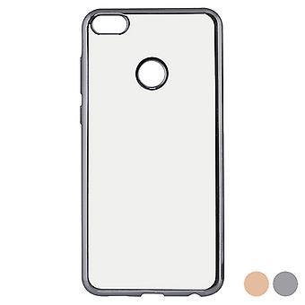 Capa móvel Huawei P8 Lite 2017 Contato Flex Metálico/Rosa