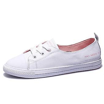 Damskie&s Prawdziwe skórzane trampki, casualowe modne buty sportowe