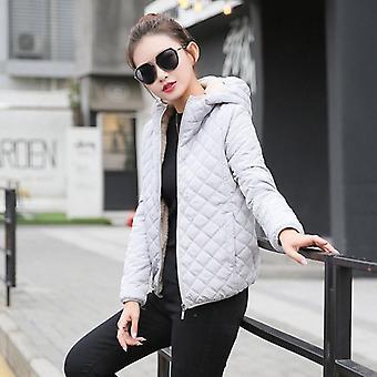 秋 の 女性 冬 ベルベット ラム フード コート ジャケット