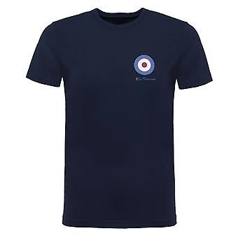 Ben Sherman mens target camiseta manga corta top navy 0062111 170