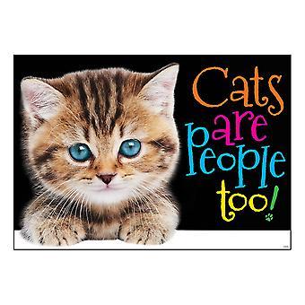 """Katzen sind auch Menschen! Argus Poster, 13.375"""" X 19"""""""