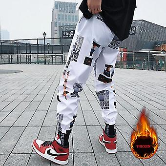 Hip Hop Pants, Men Loose Joggers Pant With Print, Streetwear Harem Clothes,