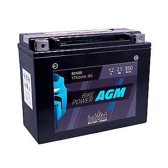 intAct YTX24HL-BS Maintenance Free AGM Bike-Power Battery