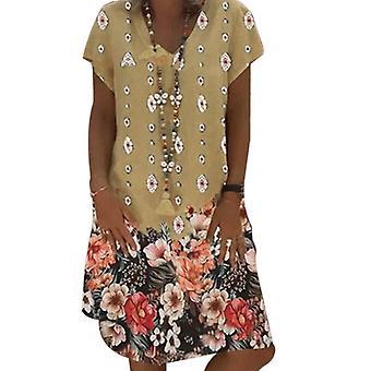 Casual χαλαρό λινό φόρεμα κυρία