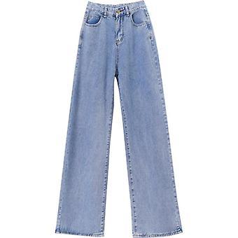Women Jeans Pants Leisure Loose High Waist Vintage Wide Leg Jeans