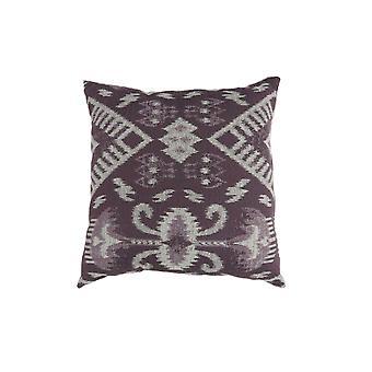 Zeitgenössischer Stil Set von 2 werfen Kissen, lila, weiß Bm177991