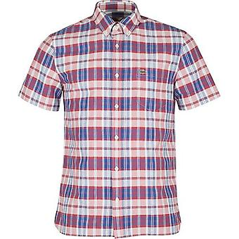 Lacoste Short Sleeved Checked Shirt