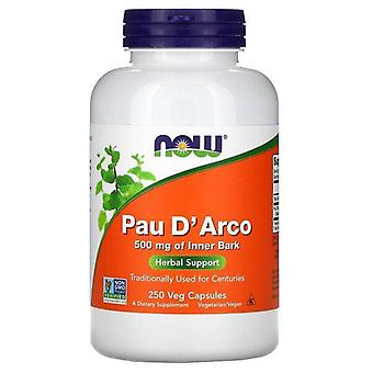 Now Foods, Pau D' Arco, 500 mg, 250 Veg Capsules