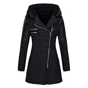 Winter Warm, Thick Parka, Streetwear Full Patchwork Zipper