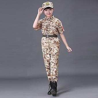 Boys Fashion Camouflage Clothing Set, Military Uniform Clothes