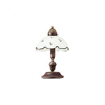 Lámpara De Mesa De Estilo Acogedor Nonna De Latón Antiguo, Altura 32 Cm
