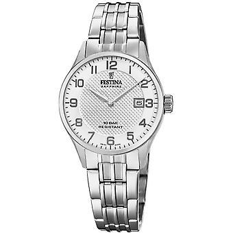 Festina Swiss F20006-1 Swiss Made Women's Silver Tone Dial Wristwatch
