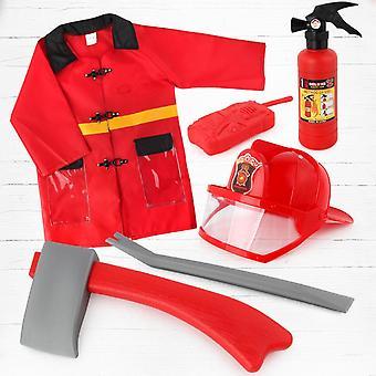 Children Firefighter Fireman Cosplay Kit