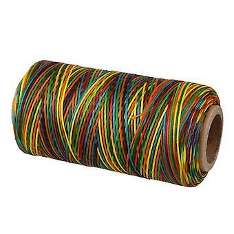 150D 1mm multicolor encerado hilo de cera cordón coser para diy leathercraft 250 metros