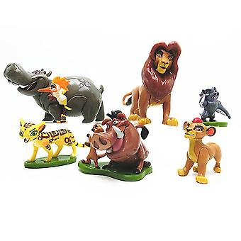 6szt Król Lew Simba Mufasa Timon Pumbaa Rysunek Toy Cartoon