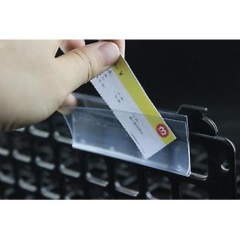 Self-adhesive Data Strip Label Holder, Name Card Sign Display Frame Pop