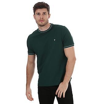 Farah Liverpool Honeycomb T-Shirt för herrar i grönt