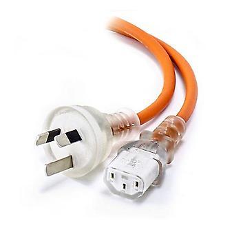 Alogic medisinsk strømkabel Aus 3 Pins nettplugg til Iec C13 oransje