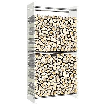Firewood Rack Transparent 80x35x160 Cm Glass