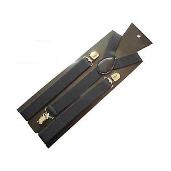 Candy-colored Stretch Polyester Nastavitelný ramenní popruh Klip (černá)