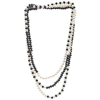 Pearls of the Orient Gratia Classic Freshwater Pearl Rope Necklace - Black