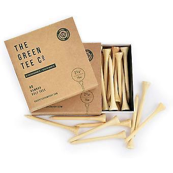Mästare Green Tee Company Bamboo 2 3/4 Natural Tees Box 40