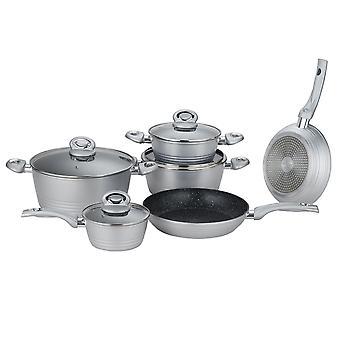 Herzberg 10 stycken smidd köksredskap grå
