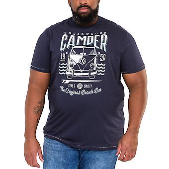 Duke D555 Mens Gorton Big Tall King Storlek Crew Neck T-Shirt Tee Top - Navy