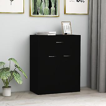 vidaXL Sideboard Black 60 x 30 x 75 cm chipboard