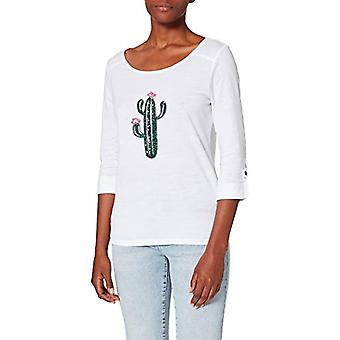 Bare ONLKITA Jess 3/4 SEQ Top Jrs T-skjorte, Hvit /Print: Stor Kaktus, M Kvinne
