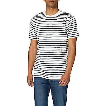 Springfield Camiseta Regular Rayas Reconsider T-Shirt, Medium Blue, L Man