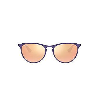 Ray-Ban 9538s Frames, Brown (Rubber Brown/Violet/Demolens), 50 Unisex-Children