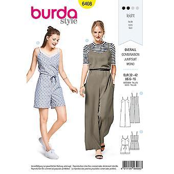 Burda Sewing Pattern 6408Misses Jumpsuit Size 6-16 Euro 32-42