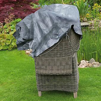 Natuurtuinmeubelenhoes voor twee stapelstoelen 140x75x70 cm