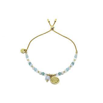 Boho betty amrum light blue & gold charm bracelet
