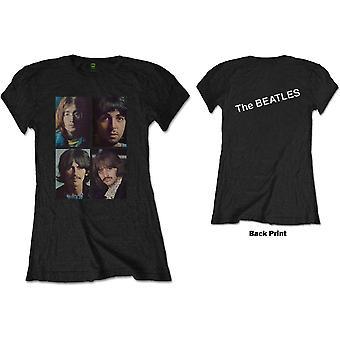The Beatles - White Album Faces Women's XX-Large T-Shirt - Zwart