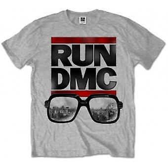 Run DMC Glasses NYC Grey Mens T Shirt: XXL